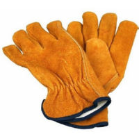 Morris 53140 Yellow Cow Split Leather Glove Unlined