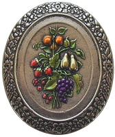 Notting Hill NHK-113-BNHT Fruit Bouquet Knob Hand-tinted, Brite Nickel