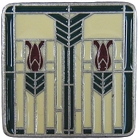 Notting Hill NHK-117-AP-C Prairie Tulips Knob, Antique Pewter/Evergreen