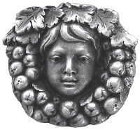 Notting Hill NHK-119-AP Fruit of the Vine Knob, Antique Pewter