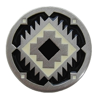 Notting Hill NHK-132-AP-C Southwest Treasure Knob, Antique Pewter/Cream