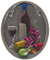 Notting Hill NHK-140-PHT Best Cellar (Wine) Knob Hand-tinted, Antique Pewter