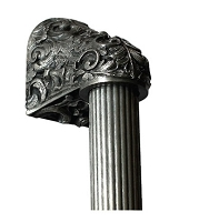 Notting Hill NHO-500-BP-16F Acanthus, Brilliant Pewter/Fluted Bar