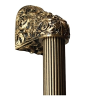 Notting Hill NHO-500-SG-12F Acanthus 24K, Satin Gold/Fluted Bar