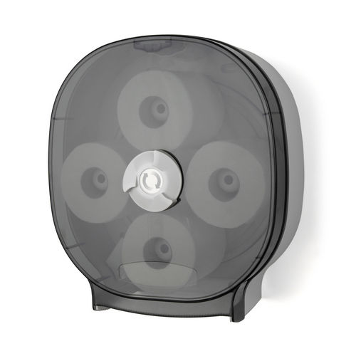 Palmer Fixture RD0044-01 4-Roll Carousel Tissue Dispenser, Dark Translucent