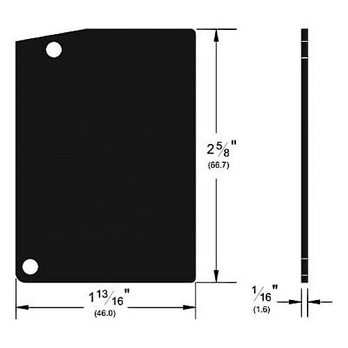 Pemko K134DEP F134 End Plate Kit Dark Bronze Aluminum