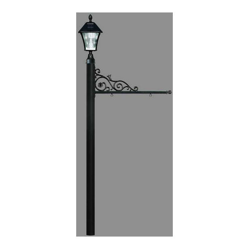 QualArc REPST-000-BL-SL Prestige Sign System with Bayview Solar Lamp, (No Base), Black