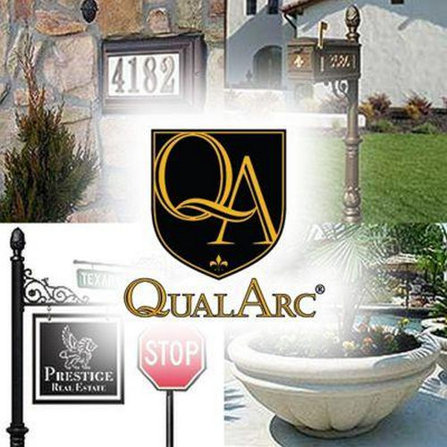 QualArc MAN-1402-FP-BZ Manchester FacePlate Only, Fleur De Lis Door Bronze