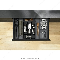 Richelieu WEBKIT1212143 Modular Ambi-Line Kits for Cutlery and Utensils for Standard Drawer