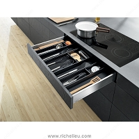 Richelieu WEBKIT1212406 Modular Ambia-Line Kits for Utensils for Standard Drawer