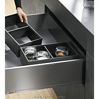 Richelieu WEBKIT1212954 Modular Ambia-Line Kits Height C with Frame Inner Drawer with front tube