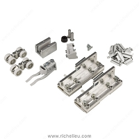 Richelieu 893091071 Hardware Set for Glass Sliding Door, One Fixed Panel, 100 kg