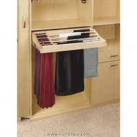 Richelieu CWPTR30142 Sliding Pant and Tie Rack in Wood