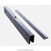 Richelieu 892000TE2170 Stainless Steel Running and Guiding Track Terra for Wood and/or Glass Doors