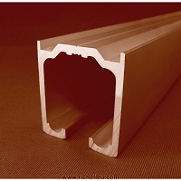 Richelieu 8910100605696 Track for Partition Systems with Flat Sides, Aluminum