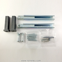 Richelieu 8910107026488 Hardware Kit for DN-80 LT Sliding System for Wood Doors