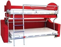Richelieu 48750106 Single Collapsible Bunk Bed
