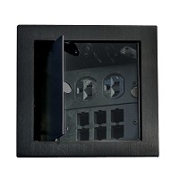 Richelieu 10041090 Square Access Box, Black