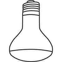 Richelieu 25R1411 Incandescent R14 25W Clear Bulb
