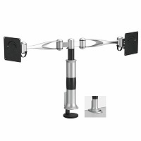 Richelieu 5006224106 Desk-Mountable Dual LCD Arm with Dual Pivots