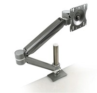 Richelieu 500781830 Single Arm LCD Flat Panel Desk Mount, White