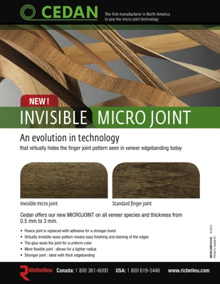 Richelieu JS10SM078BS2 Edgebanding Maple - Invisible Micro Joint