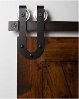 Rustica Industrial Horseshoe Stallion Barn Door Hardware
