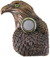 Waterwood DBZ-023 Eagle Bronze Surface Mounted Plated Poly-Resin Doorbells