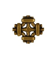 Waterwood WW101AB Celtic Knot Knob, Antique Brass