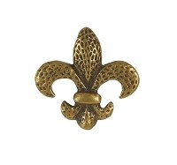 Waterwood WW105AB Fleur de Lis Knob, Antique Brass