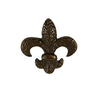 Waterwood WW105ORB Fleur de Lis Knob, Oil Rubbed Bronze