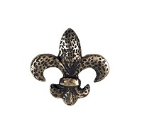 Waterwood WW105PW Fleur de Lis Knob, Pewter