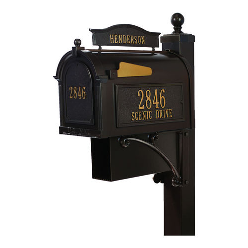 Whitehall 16303 Ultimate Mailbox Package, Bronze