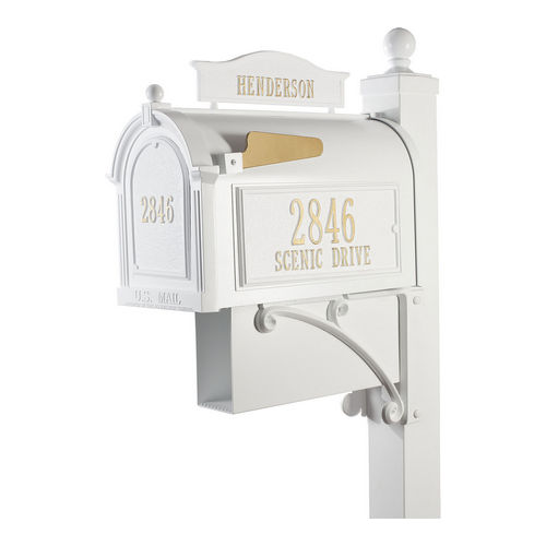 Whitehall 16304 Ultimate Mailbox Package, White