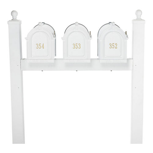 Whitehall 16521 Multi Mailbox Triple Package, White