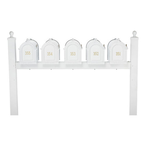 Whitehall 16527 Multi Mailbox Quint Package, White