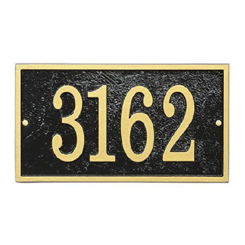 Whitehall FER1BG Fast & Easy Rectangle House Numbers Plaque