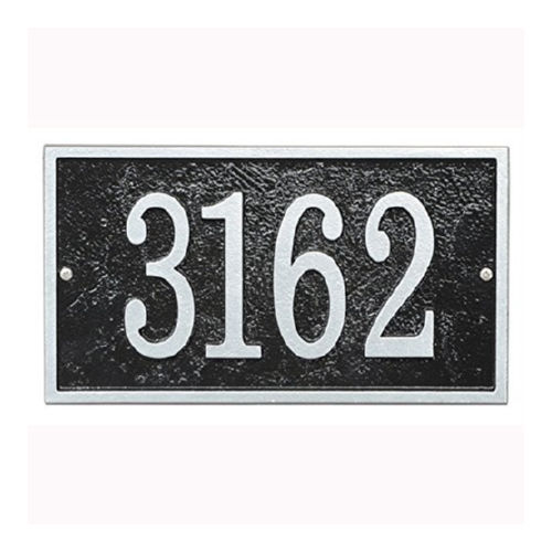 Whitehall FER1BS Fast & Easy Rectangle House Numbers Plaque