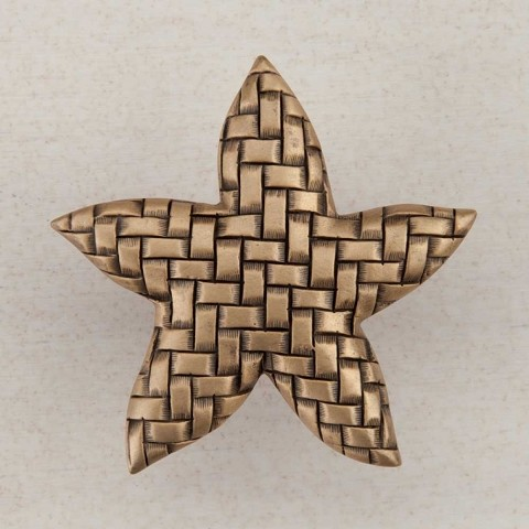 "Acorn DP9GP Artisan Collection Knob Woven Star 1-3/4"" x 1-5/8"""
