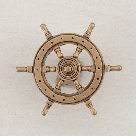 "Acorn DPCGP Artisan Collection Knob Ship""S Wheel 1-3/4"" x 1-3/4"""