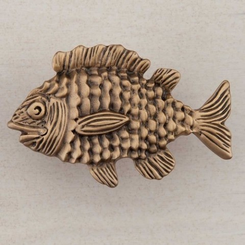 "Acorn DPLGP Artisan Collection Knob Fun Fish 1-5/8"" x 2-1/2"""
