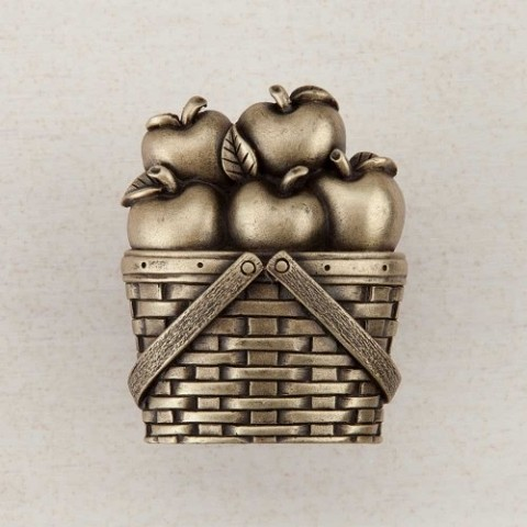 "Acorn DQAAP Artisan Collection Knob Apple Basket 1-1/2"" x 1-1/4"""