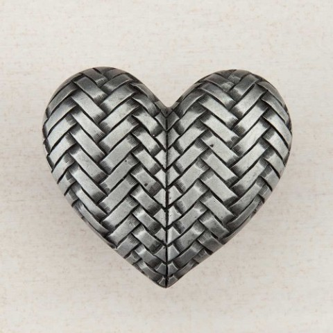 "Acorn DQJPP Artisan Collection Knob Woven Heart 1-1/2"" x 1-3/4"""