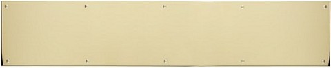 "Brass Accents A09-P0640-628 Kick Plate 6"" x 40"" Screw Mount, Polished Brass-Aluminum"