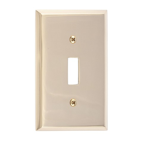 Brass Accents M07-S4500 Quaker Single Switch, Polished Brass