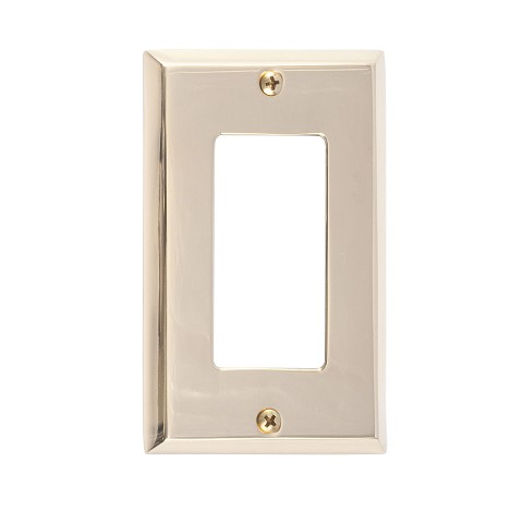 Brass Accents M07-S4520 Quaker Single GFCI, Polished Brass