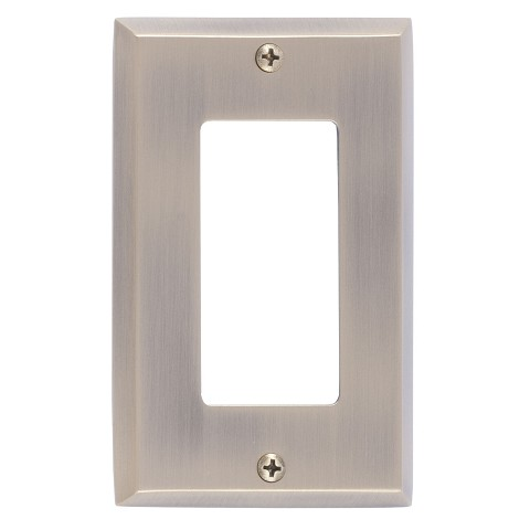 Brass Accents M07-S4520 Quaker Single GFCI, Antique Brass
