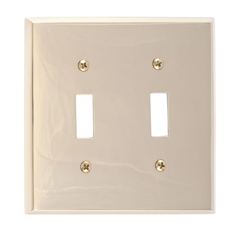 Brass Accents M07-S4530 Quaker Double Switch, Polished Brass