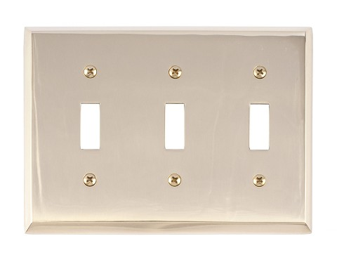 Brass Accents M07-S4550 Quaker Triple Switch, Polished Brass