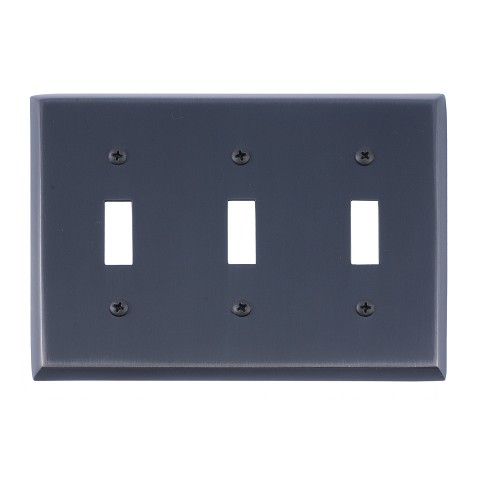 Brass Accents M07-S4550 Quaker Triple Switch, Venetian Bronze
